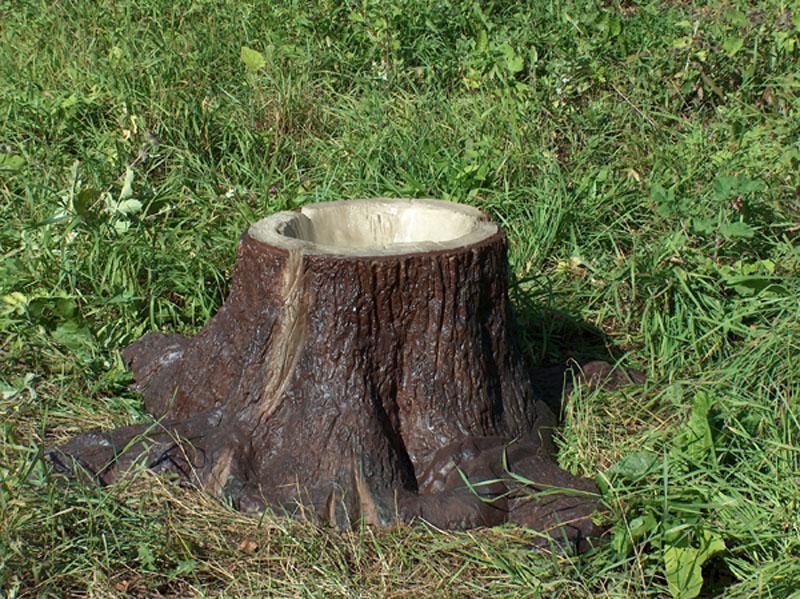 Имитация дерева из бетона